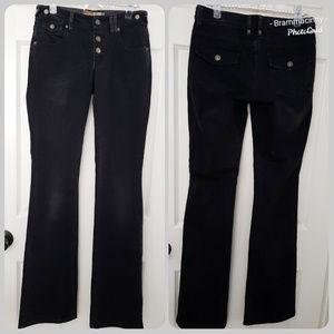 Galliano ITTIERRE Italia Black Flare Leg Jeans